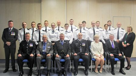 Cambridgeshire police's new batch of recruits. Picture: CAMBS POLICE