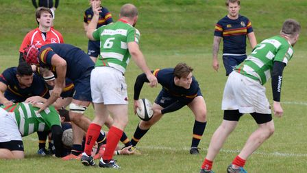 Tabard scrum-half Harry Gough in action against Cheshunt.