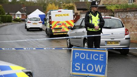 Police have launched a murder investigation after a man was stabbed in Eaton Socon. The area remains