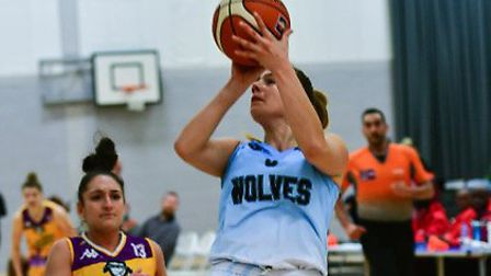Dorka Boros in action for Oaklands Wolves against London Lions. Picture: LELLO AMETRANO