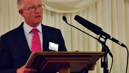 Meldreth's Steve Mallen, pictured speaking at a Zero Suicide Alliance event in the House of Commons,