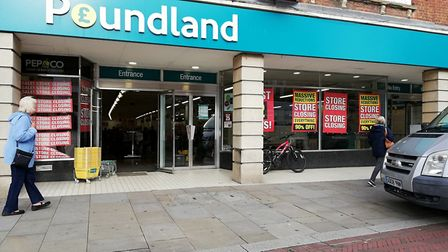 Poundland, in Huntingdon High Street. Picture: ARCHANT