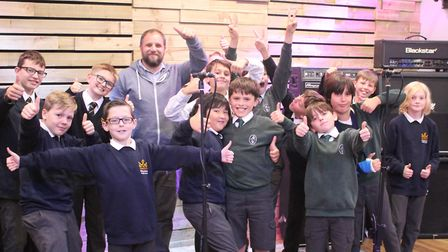 The Boyz Choir pose after recording 'Making a Good Impression.' Picture: Graham Palmer