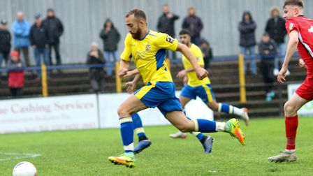 Scott Shulton in action for St Albans City against Eastbourne Borough. Picture: JIM STANDEN