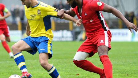 Joe Iaciofano in action for St Albans City against Eastbourne Borough. Picture: JIM STANDEN