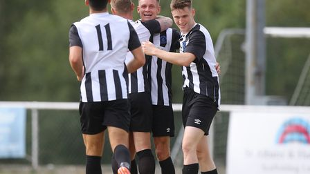 Colney Heath will be hoping for more celebrations when they face Stowmarket Town in the FA Vase. Pic