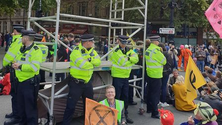 Nigel Harvey from St Albans was arrested at an Extinction Rebellion climate change protest. Picture: