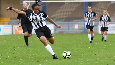 Rianne Townsend-Brown in action for Colney Heath Ladies. Picture: JAMES LATTER