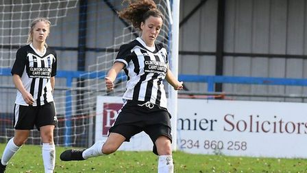 Annie Hickey in action for Colney Heath Ladies. Picture: JAMES LATTER