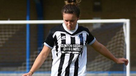 Christina Freestone in action for Colney Heath Ladies. Picture: JAMES LATTER