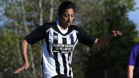 Samaira Khan in action for Colney Heath Ladies. Picture: JAMES LATTER