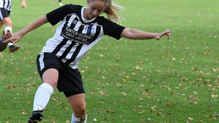 Lucy Hancock in action for Colney Heath Ladies. Picture: JAMES LATTER
