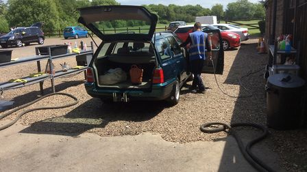 A car wash business was made to leave Wheathampstead Golf Course by St Albans District Council. Pict