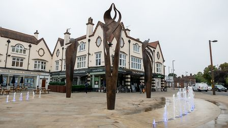 Letchworth sculpture and fountains, Letchworth Area Guide. Picture: DANNY LOO