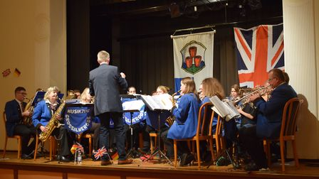 Royston and Großalmerode town bands Picture: Paul Brown