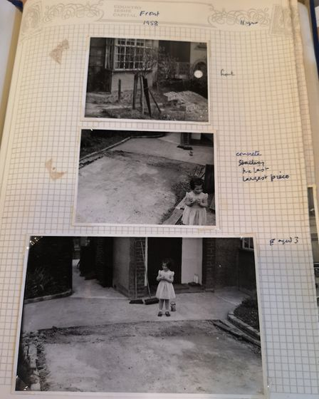 A photo album of a house in St Albans was found during the renovations at Grove House. Picture: Renn