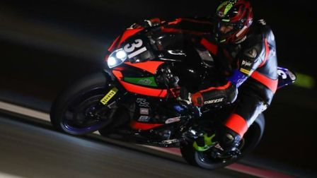 Jon Railton races through the darkness at the Bol D'or event. Picture: SV AGENCY