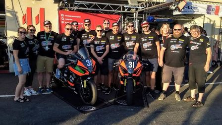 The British Endurance Racing Team, featuring Jon Railton (seventh left). Picture: SUBMITTED