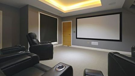 The home also has its own cinema room. Picture: Zoopla