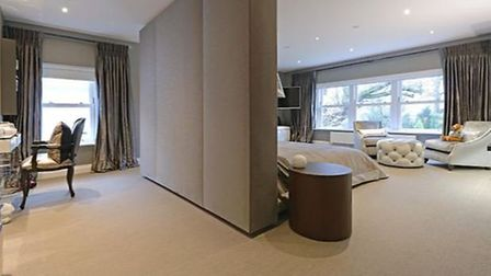 The master suite includes a dressing room and bathroom. Picture: Zoopla