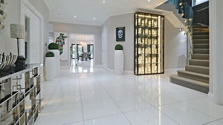 The property boasts a spacious entrance hall. Picture: Zoopla