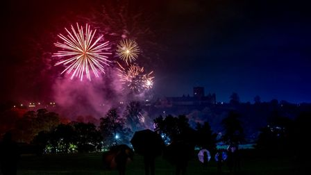 The St Albans Cathedral fireworks display in Verulamium Park. Picture: Stephanie Belton