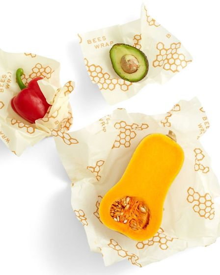 It's a wrap: Bee's Wrap Assorted Reusable Food Wraps - Pack of 3, £15, Lakeland. Picture: PA Photo/L