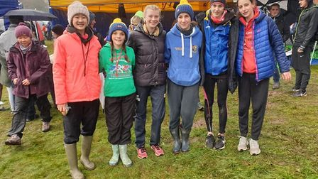 St Albans Striders under-15 girls finished fourth at the English Cross-Country Relay Championships i