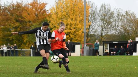 Action from Colney Heath Ladies' clash with Luton (pic James Latter)