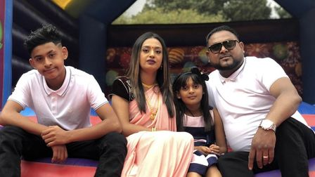 Amina Khan and husband Faisul Islam are being forced to live with their two young children in a High