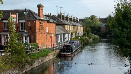 The River Lea, Hertford. Picture: DANNY LOO