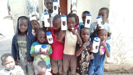 Melbourn Village College donated water bottles to children in The Gambia. Picture: MVC