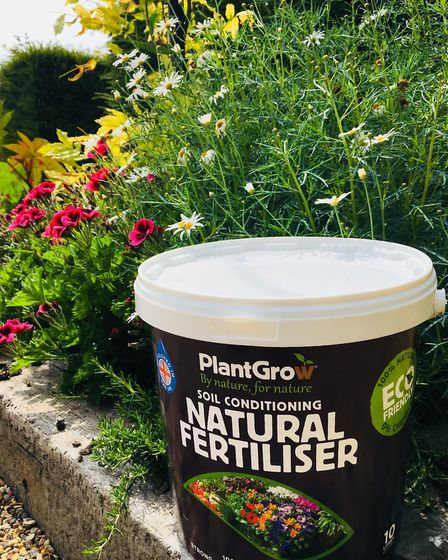 PlantGrow's solid solution is good for treating the soil before planting and works well as mulch ar