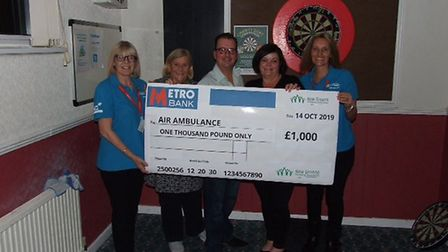 New Greens Residents Association Social Club in St Albans raised money for the air ambulance service