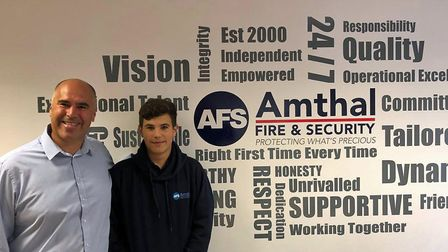 Father and son John and Luke Allam are now both working at Amthal Fire and Security.