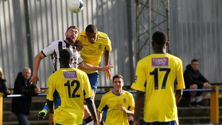 St Albans City's new on-loan signing from Luton Town, Frankie Musonda, in action against Bath City a