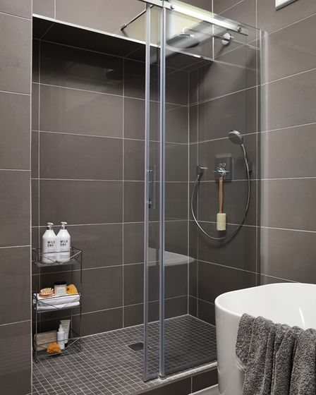 The spacious shower in the master bedroom's en suite. Picture: Fairview New Homes