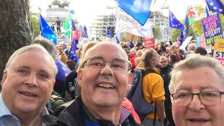 Campaigners from St Albans for Europe took part in the People's Vote March in London. Picture: Paul