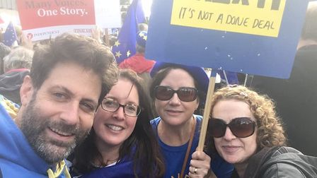 Campaigners from St Albans for Europe took part in the People's Vote March in London. Picture: St Al