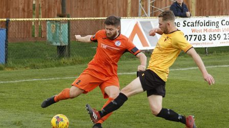 Aaron Phillips of St Ives Town in their Southern League Premier Division Central loss at Alvechurch.