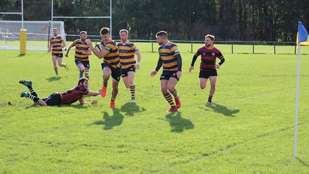 Joe Seymour in action for St Albans against UCSOB. Picture: TERRY EVANS
