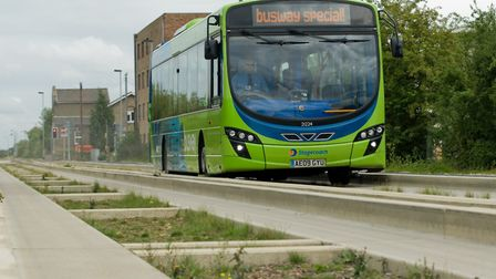 Stagecoach guided bus moves through Longstanton. Picture: PAULGREEN/FILEPHOTO