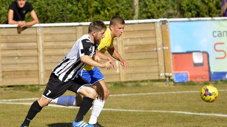 Ben Seymour-Shove hit one of the St Ives Town goals as they drew with Leiston. Picture: DUNCAN LAMON