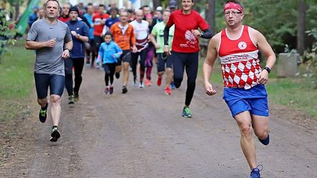 Danik Bates couldn't keep hold of his lead at the Torun parkrun. Picture: Stevenage Striders