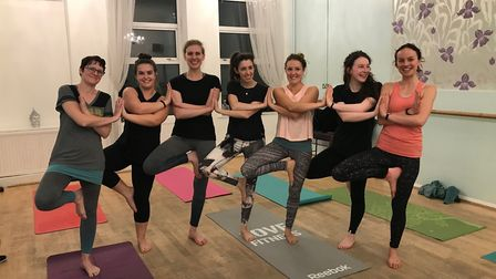 Yoga group raise money for The Counselling Foundation by donating their takings. Picture: Wild Luna