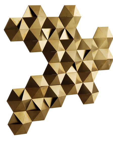 Check out all the angles: Tessellate Gold Brushed Metal LED Decorated Wall Light Gold, £275, Habitat