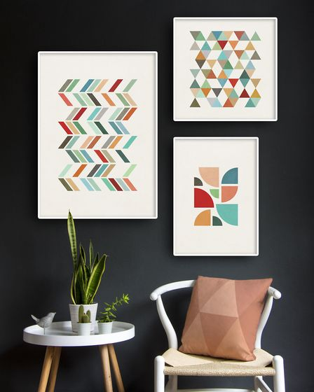 Arty Calculation: Geometric prints, from £11.50 each, Latte Design. Picture credit: Latte Design/PA