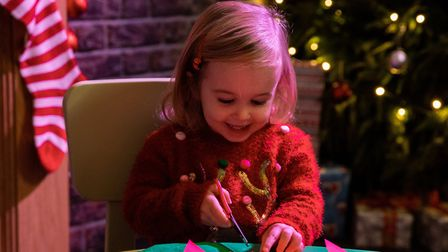 Children have a chance to meet Father Christmas at ZSL Whipsnade Zoo. Picture: ZSL