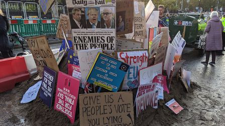Campaigners from Harpenden took part in the People's Vote march in London. Picture: Richard Scott