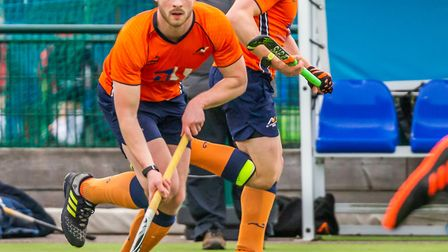 Dave Williams opened the scoring for St Albans Hockey Club against Old Loughts. Picture: CHRIS HOBSO